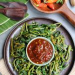 Plencing Solo: Blanched Morning Glory with Sambal