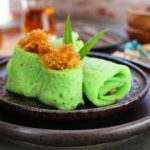 Dadar Gulung: Rolled Pancake with Grated Coconut Filling (Vegan)